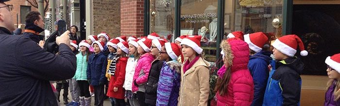 Carolers at Fortunate Discoveries