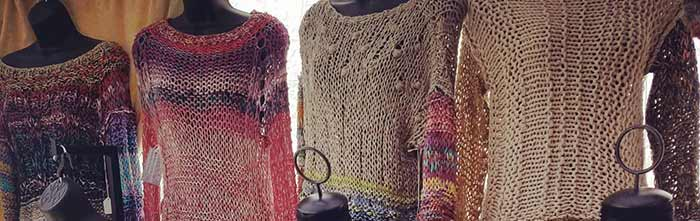 Knit designer Lana Vosk now at Fortunate Discoveries!