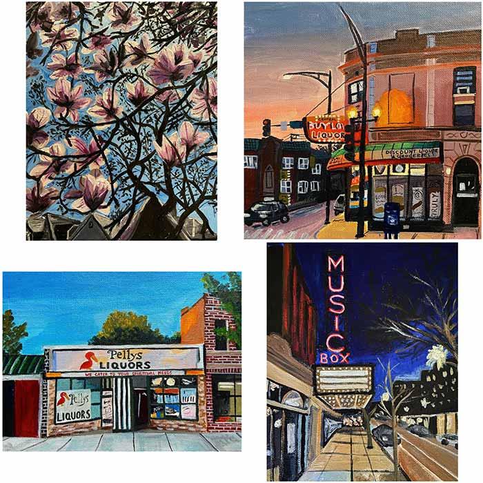 Chicago artist Katie Burjek at fortunate discoveries
