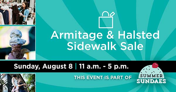 Sidewalk Sale: Armitage Ave. Fortunate Discoveries/Sunday September 8th!